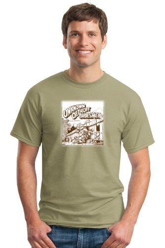 Keep On Truckin' Apparel, Unknown Detroit Bluesmen, Men's Cotton T-Shirt, an R. Crumb image-Prairie Dust-3X
