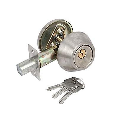 eDealMax baño del dormitorio 2pcs con llave de seguridad de vigilancia de entrada Deadbolt Bloqueos Locker