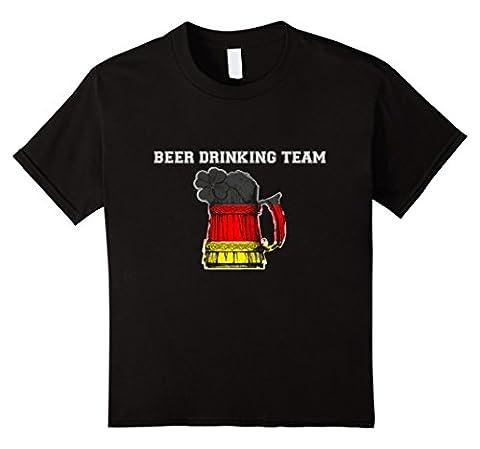 Kids German Beer Drinking Team Oktoberfest Boot T Shirt 4 Black - German Drinking Boot