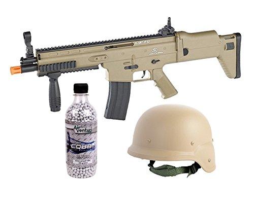 FN Herstal SCAR-L Spring Airsoft Rifle Kit, Tan airsoft gun by FN Herstal