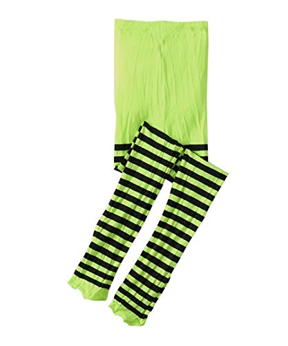 Lime Striped Witch Costumes (Jefferies Socks Stripe Tights (10-14 years, Lime/Black))