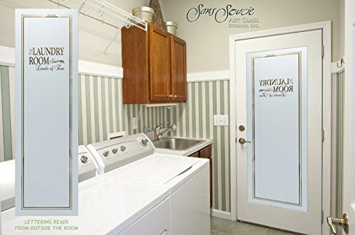 Laundry Door Design Name Sandblast Etched Glass Door