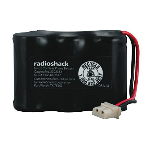 Nickel Cadmium Cordless Phone Battery - RadioShack 3.6V/400mAh Ni-Cd Battery for VTech BT17333