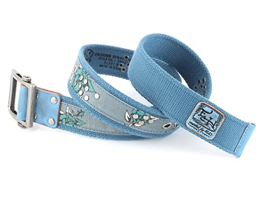Ed Hardy EH3337 Womens Bloom Canvas Belt (Ed Hardy Fashion Belt)