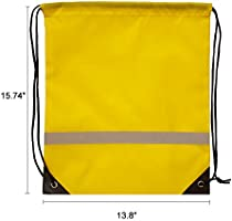 fb4649505725 IMI Reflective Strip Drawstring Backpack for Gym Traveling Partys ...