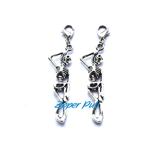Zipper Pull, Skull Zipper Pull,Zipper Pull Charm, Zipper Pulls for Purses, Skull Charm, Key Chain,Zipper Pull, Perfect for Necklaces, Bracelets , keychain and earrings
