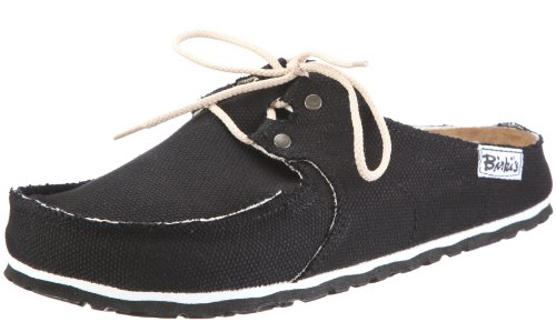 Birkis clogs Super Skipper from Textile in Black with a narrow insole size 38.0 N EU
