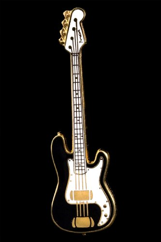 Electric Bass Guitar Pin - Black Fender 10776129
