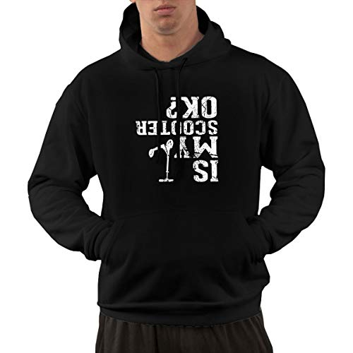 (Anonymous Guest Mens Pullover Hoodie, is My Scooter Girl Long-Sleeved Sweater Shallow Sweater with Pocket)