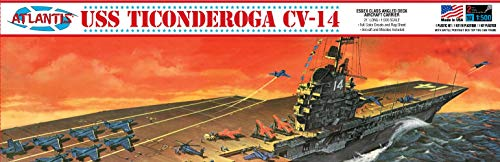 - USS Ticonderoga CV-14 1/500 Angled Deck Aircraft Carrier Atlantis Toy and Hobby