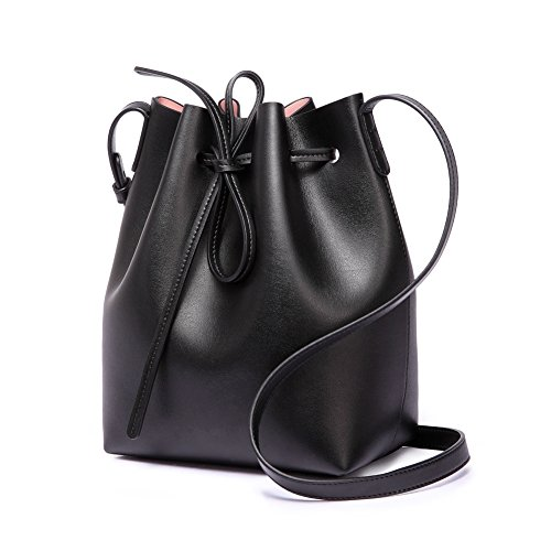 Girl Cluthes Cross for Tote Women Purse Large Soft Bucket Black Gift Leather Free Bag Lady S Red Satchel body Shoulder Fvqx6Bw
