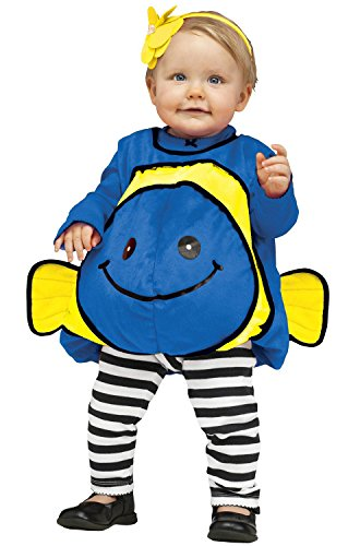 Fun World Unisex Blue Giddy Goldfish Infant Cstm Costume, Multicolor