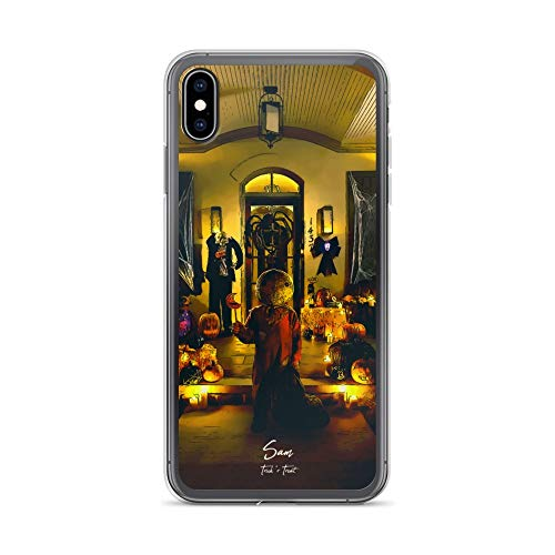 iPhone Xs Max Case Anti-Scratch Motion Picture Transparent Cases Cover Sam Trick'r Treat Movies Video Film Crystal Clear -