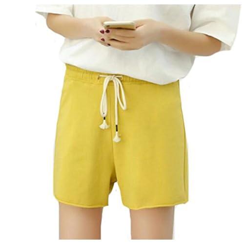 8eaeeeed10b on sale Cruiize Womens Elastic Waist Thin Drawstring Mid Rise Fitness Shorts