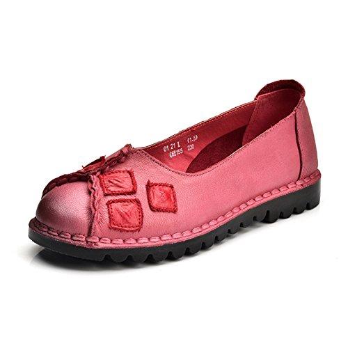 Retro estilo folk zapatos de suela suave/ zapatos de baja con su madre C