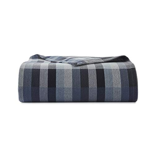 Eddie Bauer Windsor Stripe Blanket King Blue
