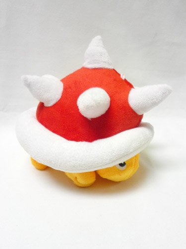 Mario Bro: Soft Red Spiny 7-inch - Mario Guys Bad