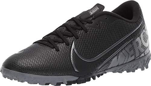 Nike Mercurial Vapor 13 Academy Turf Soccer Shoe (11.5, Black/Cool Grey/Metallic Cool Grey) (Turf Soccer Artificial)