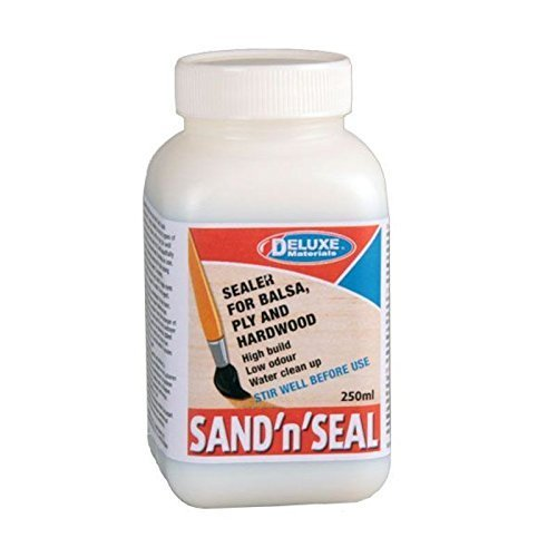 Deluxe Seal (Sand 'n' Seal Sealer for Balsa, Plywood and Hardwood Water clean up Low odour by Deluxe Materials)