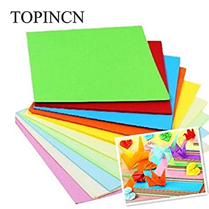 9223d9135b Origami Paper - Craft Square Folding Paper Handmade 520 Pc Coloureddouble  Sided Origami Mix Color Diy