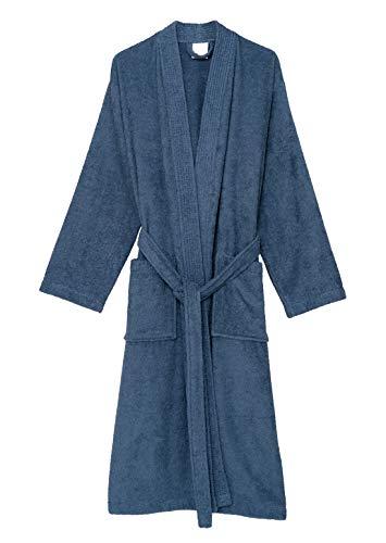 (TowelSelections Men's Robe, Turkish Cotton Terry Kimono Bathrobe Large/X-Large Moonlight Blue)