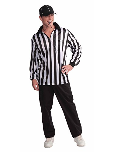 (Forum Novelties Men's Referee Costume Shirt and Hat, Multi, One)