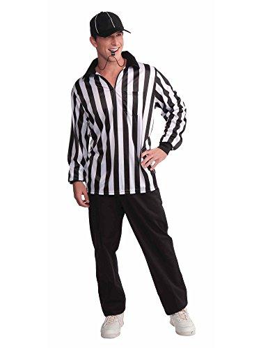 Forum Novelties Men's Referee Costume Shirt and Hat,