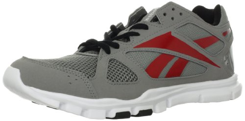 Reebok Men's Yourflex Train 2.0 Cross-training Shoe,Tin Grey/Excellent Red/Black/White,10.5 M US