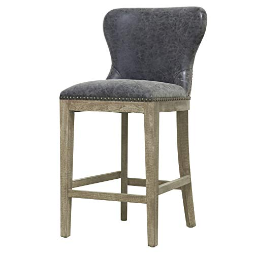 New Pacific Direct 3900020-NCL Dorsey Counter Bar & Counter Stools, Nubuck Charcoal ()