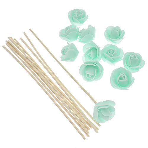 Yummi697 10Pcs Rattan Replacement Sticks Artificial Flowers Fragrance 3Mm Diffuser Home Décor by Yummi697
