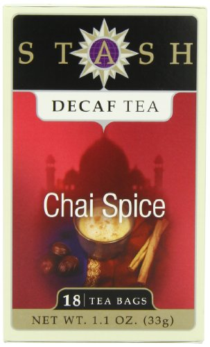Stash Tea Decaf Chai Spice Tea 18 Count Tea Bags (packaging may vary) Individual Decaffeinated Black Tea Bags, Use in Teapots Mugs or Cups, Brew Hot Tea or Iced Tea