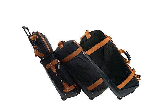 Club Glove Premium 4Piece Travel Luggage Set Ensemble of Carryon Handgepäcktrolley, and XL Duffle Duffle Shoulder Bag Laptop Bag, Green (Black) - CG-Ensemble-4