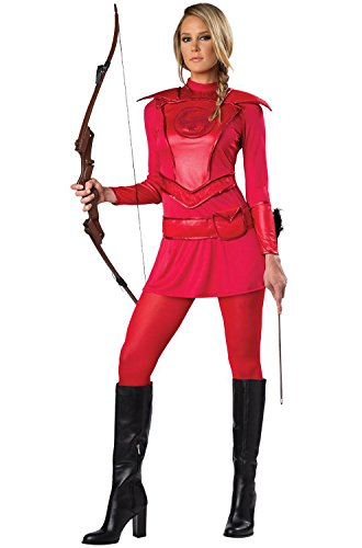 InCharacter Red Warrior Huntress Adult Costumes-Small