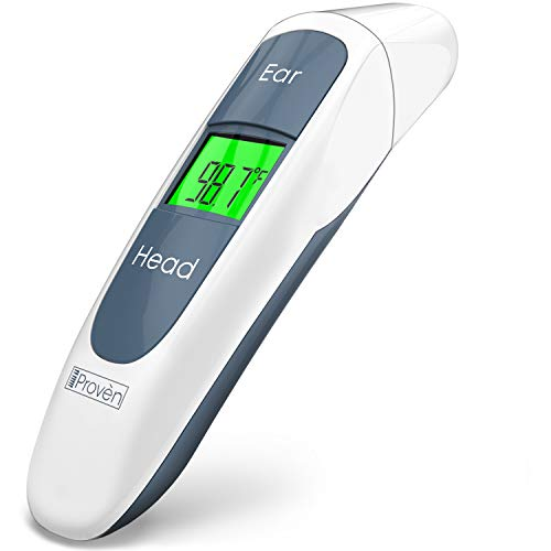 Best Medical Digital Ear Thermometer (Termometro) with Temporal Forehead Function - For Baby, Infant and Kids - Upgraded Tympanic Fever Scan Lens Technology for Unmatched Accuracy - New 2018 - DMT-316