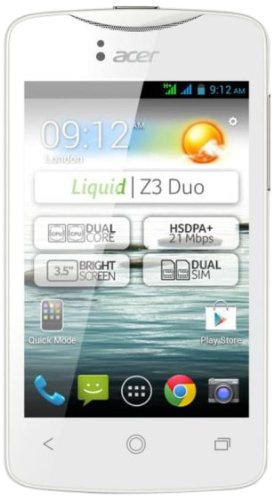 Acer Liquid Z3 Duo - Smartphone (3,5/8,9 cm, USB, Android 4.2 ...