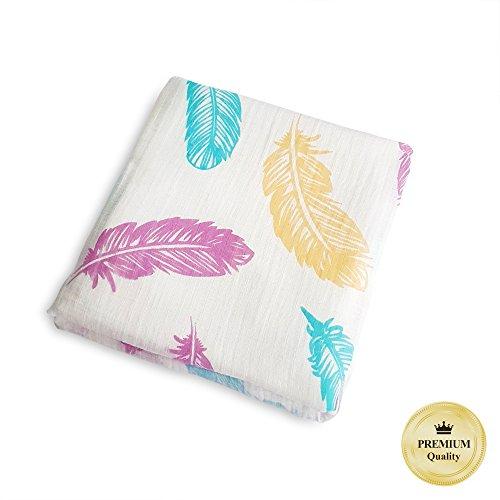 Wrap Around Single Stroller (PREMIUM Muslin Swaddle Blanket | Fine 100% Cotton, 47''x47