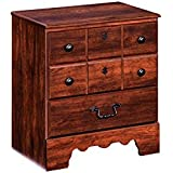 Ashley Furniture Signature Design - Timberline Nightstand - 2 Drawers and Faux Keyhole - Vintage Casual - Warm Brown