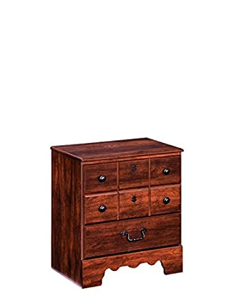 Ashley Furniture Signature Design   Timberline Nightstand   2 Drawers And  Faux Keyhole   Vintage Casual