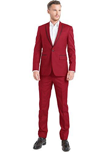 iTailor Mens Cotton Chino Single-Button Suit