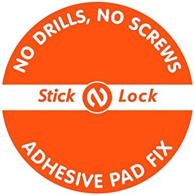 Croydex Rust Free Stick 'N' Lock Plus Anti-Fog Mirror, Silver