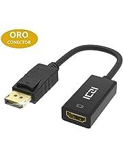 ICZI Adattatore DisplayPort a HDMI, Cavo DP Maschio su HDMI Femmina