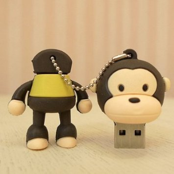 D-CLICK TM High Quality 32GB Cool Baby Monkey Shape USB High speed Flash Memory Stick Pen Drive Disk