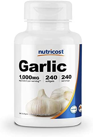Nutricost Garlic 1000mg, 240 Softgels – Premium, High Potency, Gluten Free Garlic Supplement