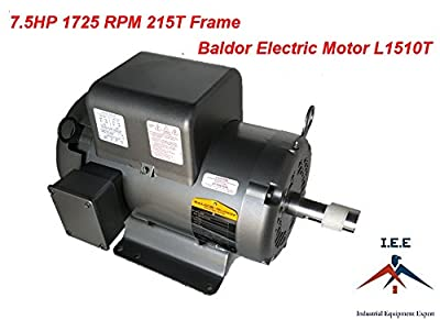 Baldor 7.5 Hp Electric Motor 1725 RPM 215T Frame 1 Ph Single Phase 208/230 Volt