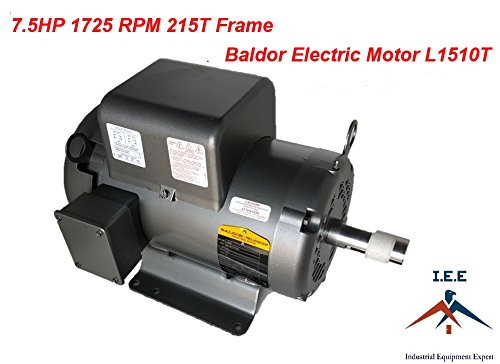 7.5HP Single Phase Baldor Electric Compressor Motor 215T Frame # L1510T 230 Volt - Nema 215t Frame