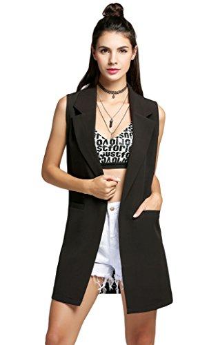 POGT Womens Blazer Jackets Sleeveless