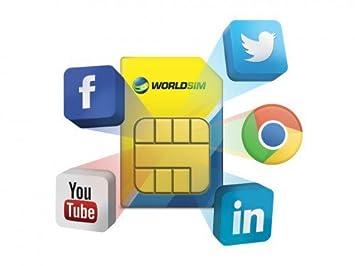 Tarjeta SIM de Datos WorldSIM, Incluye crédito Inicial de 30 ...