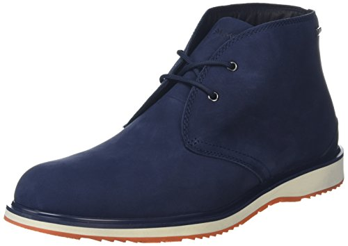 New Swims Barry Chukka Navy/Orange 9 Mens Boots by SWIMS