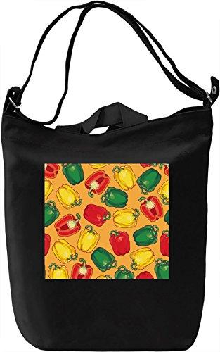 Paprica Print Borsa Giornaliera Canvas Canvas Day Bag| 100% Premium Cotton Canvas| DTG Printing|