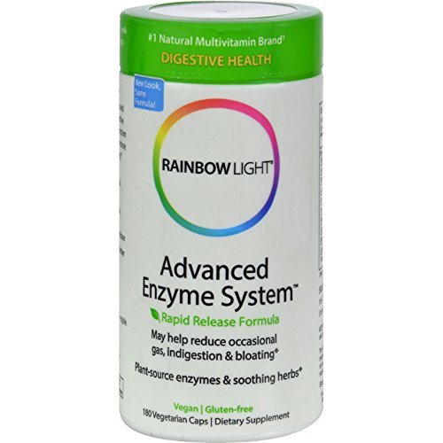 Rainbow Light Advanced Enzyme System 180 Vegetarian (Multi Enzyme Complex 180 Capsule)